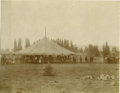 Photography:Cabinet Photos, Imperial Size Photograph of Steam Powered Carousel, ca 1880s. ...