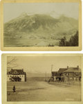 "Western Expansion:Goldrush, Lot of Two Imperial Size Photographers of ""Colorado Towns"" ca1880s.... (Total: 2 Items)"