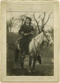 """Western Expansion:Cowboy, Cabinet Card Photograph of """"Cowgirl,"""" ca. 1890s...."""