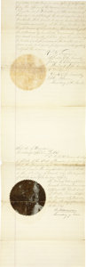 Western Expansion:Indian Artifacts, C. N. Notewan. Autograph Document Signed, Nevada Territory, IndianUprising, ca. 1860s....