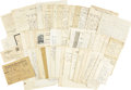 Western Expansion:Cowboy, Lot of 63 Western Letters & Documents to Gen. H. G. Thomas, ca. 1860s-1880s....
