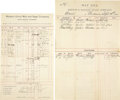 Western Expansion:Cowboy, Lot of Two Stagecoach Company Waybills, Montana, ca 1880s-1890s....