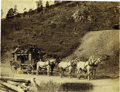 "Western Expansion:Goldrush, Imperial Size Photograph of ""Deadwood Stagecoach"" by Grabill, 1889...."