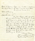 Western Expansion:Cowboy, Judge Roy Bean Autograph Document Signed, County of Pecos, Texas,1880s. ...