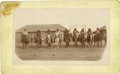 "Western Expansion:Indian Artifacts, Cabinet Card photograph ""Indian Scouts"" ca 1880s-1890s...."