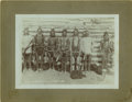 Western Expansion:Indian Artifacts, Cabinet Card Photograph of Indians Wearing Dancing Bells, ca.1880s-1890s....
