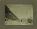Western Expansion:Cowboy, Imperial Size Cabinet Card Photograph Staged Hold-Up ca1890s-1900s....