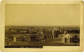 "Western Expansion:Indian Artifacts, Imperial Size Cabinet Card Photograph Birdseye View ""Santa Fe, NewMexico Territory"" ca 1880s - ..."