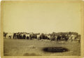 "Western Expansion:Cowboy, Imperial Size Cabinet Card Photograph by C. H. Grabill, ""Roping andChanging,"" 1890 ...."