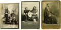 Western Expansion:Indian Artifacts, Three Cabinet Card Photographs of Nez Perce/Umatilla Indians, ca.1890s. ... (Total: 3 Items)