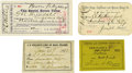 Western Expansion:Cowboy, Lot of Four Wild West Stagecoach Passes, ca. 1870s-1890s. ...(Total: 4 Items)