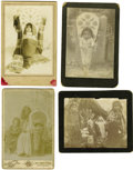 Western Expansion:Indian Artifacts, Four Cabinet Card Photographs of Indian Children on Cradle Boards, ca. 1880s-1890s.... (Total: 4 Items)