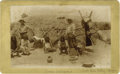 Western Expansion:Indian Artifacts, Cabinet Card Photograph Pima Indians Salt River Valley ArizonaTerritory, ca. 1890s. ...