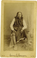 Western Expansion:Indian Artifacts, Imperial Size Photograph of Kiowa Indian, Purcell, IndianTerritory, ca. 1889-1890....