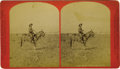 Western Expansion:Cowboy, Early Large Format Stereoview of Chief Packer Moore by Haines, ca.1870s....