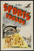 """Movie Posters:Sports, Sports Parade Stock Poster (Warner Brothers, 1940). One Sheet (27"""" X 41""""). Sports...."""