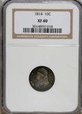 Bust Dimes: , 1814 10C Large Date XF40 NGC. NGC Census: (4/262). PCGS Population(2/87). Mintage: 421,500. Numismedia Wsl. Price for NGC/...