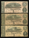 Confederate Notes:1864 Issues, T69 $5 1864.. ... (Total: 3 notes)