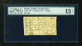 Colonial Notes:North Carolina, North Carolina December, 1771 L1 PMG Choice Fine 15 Net....