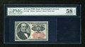 Fractional Currency:Fifth Issue, Fr. 1309 25c Fifth Issue PMG Choice About Unc 58 EPQ....