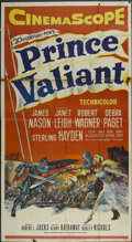"Movie Posters:Adventure, Prince Valiant (20th Century Fox, 1954). Three Sheet (41"" X 81"").Adventure...."