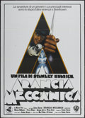 "Movie Posters:Science Fiction, A Clockwork Orange (Warner Brothers, 1971). Italian 2 - Folio (39"" X 55""). Science Fiction...."