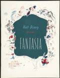 "Movie Posters:Animated, Fantasia (RKO, 1940). Program (Multiple Pages, 9.5"" X 12.5"").Animated...."
