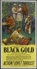 "Movie Posters:Black Films, Black Gold (Norman, 1928). Three Sheet (41"" X 81""). Black Films...."