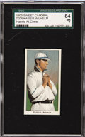 Baseball Cards:Singles (Pre-1930), 1909-11 T206 Kaiser Wilhelm, Hands At Chest SGC 84 NM 7. KaiserWilhelm's name is near the top of the list for losses in the...