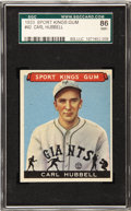 """Baseball Cards:Singles (1930-1939), 1933 Goudey Sport Kings Carl Hubbell #42 SGC 86 NM+ 7.5 """"King Carl""""was a deserving inclusion in the Sport Kings issue which..."""