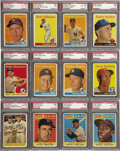"Baseball Cards:Sets, 1958 Topps Baseball Complete Set With 31 Yellow Letters. The 1958 Topps baseball series consists of 494 cards and included ""..."