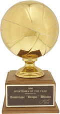 """Basketball Collectibles:Others, 1996 Dominique Wilkins """"Sportsman of the Year"""" Trophy & 2000 Atlanta Hawks Presentational Artwork. One of the game's most p..."""