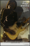 "Movie Posters:Rock and Roll, Jimi Plays Berkeley (New Line, 1973). College Poster (11"" X 17"").Rock and Roll...."
