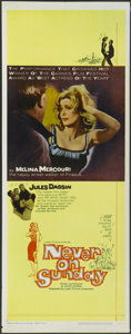 """Movie Posters:Comedy, Never on Sunday (Lopert, 1960). Insert (14"""" X 36""""). Comedy...."""