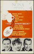 "Movie Posters:Academy Award Winner, The Apartment (United Artists, 1960). Window Card (14"" X 22"").Academy Award Winner...."