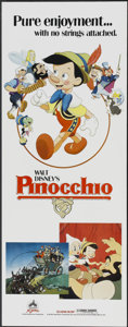 "Movie Posters:Animated, Pinocchio (Buena Vista, R-1984). Insert (14"" X 36""). Animated...."
