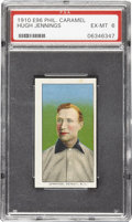 Baseball Cards:Singles (Pre-1930), 1910 E96 Philadelphia Caramel Hugh Jennings PSA EX-MT 6. Perhaps abit more lipstick and rouge than one might expect from a...
