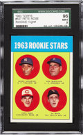 Baseball Cards:Singles (1960-1969), 1963 Topps Pete Rose Rookie #537 SGC 96 Mint 9. Though thedisembodied head design may not win any awards from the judging ...
