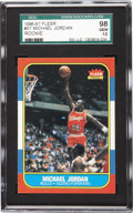 Basketball Cards:Singles (1980-Now), 1986 Fleer Michael Jordan #57 SGC 98 Gem Mint 10. Presented is oneof the most sought-after modern cards of any type, and a...