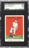 Baseball Cards:Singles (Pre-1930), 1915 Cracker Jack Al Bridwell # 42 SGC 96 Mint 9. Al Bridwellplayed for five teams in his ten seasons and the 1915 season ...