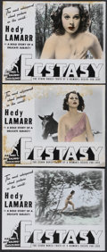 "Movie Posters:Romance, Ecstasy (Eureka, R-1940). Deluxe Lobby Cards (3) (11"" X 14""). Romance.... (Total: 3 Items)"