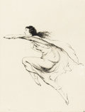 Prints:American, WARREN B. DAVIS (American, 1865-1928). Wind Dance , 1928.Drypoint etching . 8 x 5-3/4 inches (20.3 x 14.6 cm). Signed l...