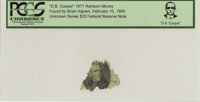 """""""D. B. Cooper"""" 1971 Ransom Money. Unknown Series $20 Federal Reserve Note"""