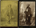 Western Expansion:Cowboy, Lot of Two Cabinet Card Photographs with Spurs and Guns from NewMexico Territory, ca. 1890s.... (Total: 2 Items)