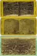 Western Expansion:Goldrush, Lot of Three Mining Stereoviews: Black Hawk & Central City,Colorado, ca. 1880s.... (Total: 3 Items)