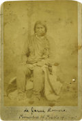 "Western Expansion:Indian Artifacts, Cabinet Card Photograph Native American Indian ""Juan De JesusRomero"" Taos, N.M. Territory ca 1880s - ..."
