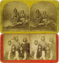 "Western Expansion:Indian Artifacts, Two Early Stereoviews Photographs ""Ute"" and ""Piute"" Indian's ca 1860s-1870s. ... (Total: 2 Items)"
