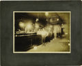 Western Expansion:Cowboy, Cabinet Card Photograph Interior of Saloon ca 1890s-1900s. ...
