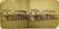 Western Expansion:Cowboy, Stereoview Bismarck, Dakota (Territory) Street Scene by O. S. Goff,ca. 1870s. ...