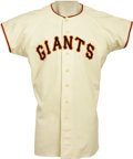 Baseball Collectibles:Uniforms, 1950 Jack Maguire Game Worn Uniform. We could legitimately point out that the offered home white flannel is Maguire's rooki...
